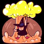 Имбирная ведьмочка: cтикер №10