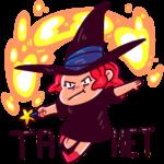 Имбирная ведьмочка: cтикер №14