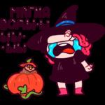 Имбирная ведьмочка: cтикер №19