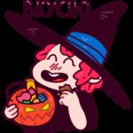 Имбирная ведьмочка: cтикер №23