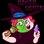 Имбирная ведьмочка: cтикер №26
