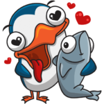 Пингвин Изи: cтикер №2