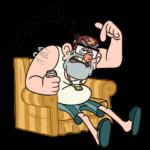 Дядя Стэн из Гравити Фолз: cтикер №1