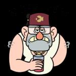 Дядя Стэн из Гравити Фолз: cтикер №4
