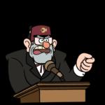 Дядя Стэн из Гравити Фолз: cтикер №6