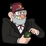 Дядя Стэн из Гравити Фолз: cтикер №20