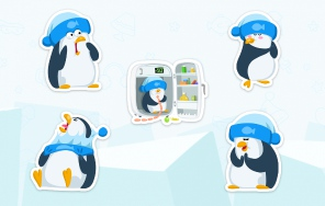 Стикеры «Пингвин Джордж»