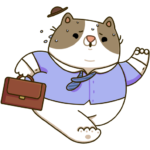Офисный кот: cтикер №7