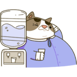 Офисный кот: cтикер №17