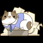 Офисный кот: cтикер №20