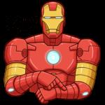 Железный Человек: cтикер №16