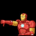 Железный Человек: cтикер №24