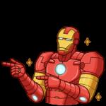 Железный Человек: cтикер №28