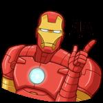 Железный Человек: cтикер №30