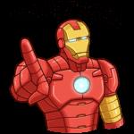 Железный Человек: cтикер №43