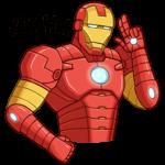 Железный Человек: cтикер №46
