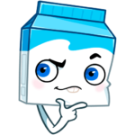 Молочко: cтикер №10