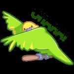 Попуги: cтикер №4