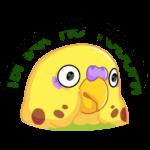 Попуги: cтикер №8