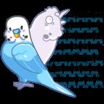 Попуги: cтикер №18