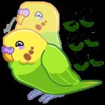Попуги: cтикер №31