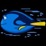 Рыбка Дори: cтикер №25