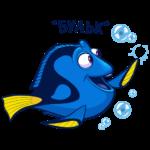 Рыбка Дори: cтикер №27
