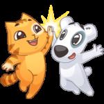 Персик и Спотти любят OREO: cтикер №2