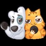 Персик и Спотти любят OREO: cтикер №10