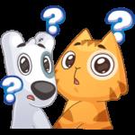 Персик и Спотти любят OREO: cтикер №19