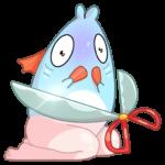 Реверсивная русалка: cтикер №21