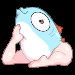 Реверсивная русалка: cтикер №32