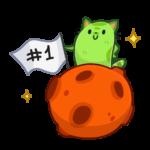 Уфо зелёный: cтикер №6
