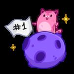 Уфо розовый: cтикер №6