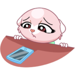 Розовая Нура: cтикер №16