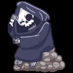 Смерть с косой: cтикер №13