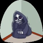 Смерть с косой: cтикер №23