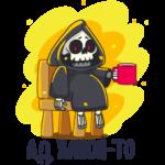 Смерть с косой: cтикер №31