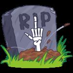 Смерть с косой: cтикер №36