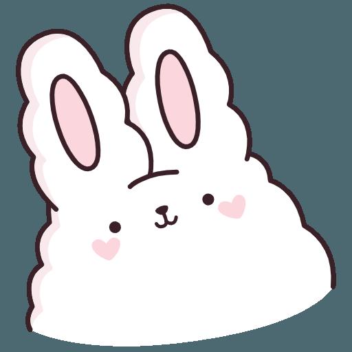 Стикеры «Кролик Супчик белый»