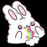 Кролик Супчик белый: cтикер №3