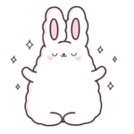 Кролик Супчик белый: cтикер №4