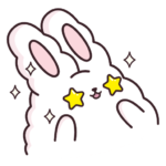 Кролик Супчик белый: cтикер №9