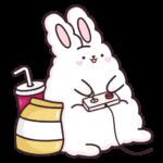 Кролик Супчик белый: cтикер №11