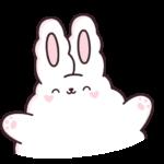 Кролик Супчик белый: cтикер №12