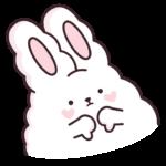 Кролик Супчик белый: cтикер №17
