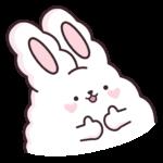 Кролик Супчик белый: cтикер №18