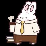 Кролик Супчик белый: cтикер №19