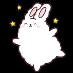 Кролик Супчик белый: cтикер №22