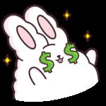 Кролик Супчик белый: cтикер №23